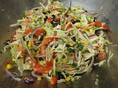 Mexican Cabbage Slaw Recipe : based off the Nutritarian Diet.