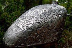Engraved Bike Tank...unbelievably beautiful