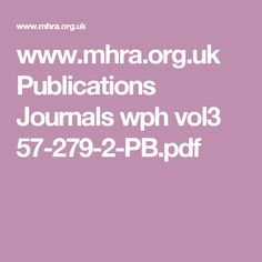 www.mhra.org.uk Publications Journals wph vol3 57-279-2-PB.pdf
