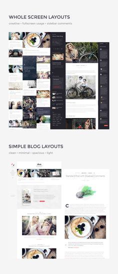 Sleek | Responsive & Creative WordPress Blog Theme • Download theme ➝…
