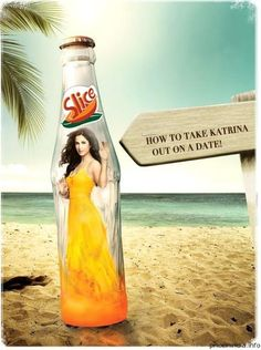 Katrina Kaif IS the drink inside the bottle for Slice in India.