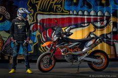 KTM 390 DUKE + KTM 690SMCR by candyprick pix, via Behance