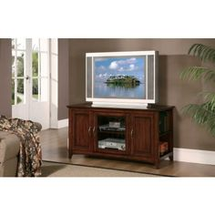 Ian Lynman TV Stand in Warm Cherry Finish - Retail Price - $398.00, Our Price - $259.00