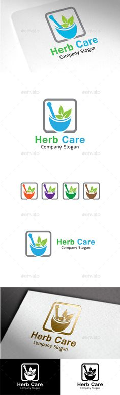 Herb Care - Logo Design Template Vector #logotype Download it here: http://graphicriver.net/item/herb-care/9999686?s_rank=1404?ref=nexion
