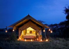 Serengeti Under Canvas is a luxurious semi-permanent tented camp that moves around the Serengeti bringing guests within range of the massive herds of the Great Migration.