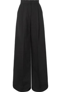 Alexander Mcqueen Pleated Crepe Wide-leg Pants In Black Hijab Fashion, Korean Fashion, Fashion Outfits, Womens Fashion, Fashion Pants, Dope Fashion, Trendy Fashion, Alexander Mcqueen, Pantalon Large
