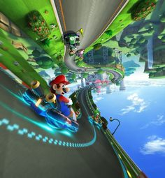 Mario Kart 8!!! Think I need a Wii U so I can play this!