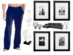 Marble floors, black leather couches, abstract stone sculptures, and colossal black-and-white photos of different cities consumed the…penthouse. Another one of Gavin Blake's many layers came to her mind. Gavin stepped into view, wearing a pair of blue cotton pajama pants - shirtless…she thought she would pass out. - Collide by Gail McHugh