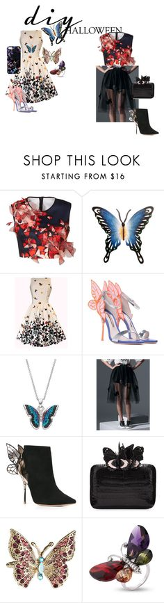 """""""Butterfly"""" by barnhillmadison on Polyvore featuring Clover Canyon, NOVICA, Sophia Webster, WithChic, Nancy Gonzalez, Accessorize, Nikki Strange, halloweencostume and DIYHalloween"""
