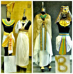 The reconstruction of the Ancient Egyptian clothing for man and woman.  Whistling Woods - Neeta Lulla School of Fashion: STUDENT SPOTLIGHT- Exploring ancient Egypt & India