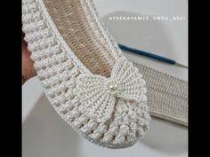 Crochet Flower Tutorial, Crochet Instructions, Easy Crochet, Crochet Lace, Crochet Stitches, Crochet Shoes Pattern, Shoe Pattern, Crochet Patterns, Beginner Crochet Projects