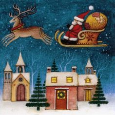 GBP - Pack Of 8 Mini Santa Sleigh Rnli Lifeboats Charity Christmas Cards Xmas Card Pac & Garden Charity Christmas Cards, Christmas Card Packs, Merry Christmas To All, Christmas Night, Xmas Cards, Christmas Art, Vintage Christmas, Christmas Stuff, Santa On His Sleigh