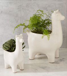 Ceramic Llama Planter | West Elm