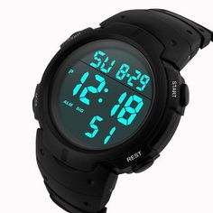 5f713a7175e Fashion Men Boys Sport LCD Digital Stopwatch Date Rubber Wrist Watch
