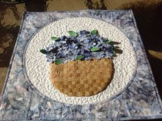Wall Hanging Basket of ForgetMeNots by KrasoskisKrafts on Etsy
