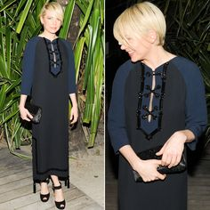 One of our most popular red carpet looks among readers this week was worn by Michelle Williams, who proved why she is the face of Louis Vuitton. Cut And Color, Cut And Style, Black Women Hairstyles, Girl Hairstyles, Michelle Williams Pixie, My New Haircut, Texas Hair, Black And Blue Dress, Girl Short Hair