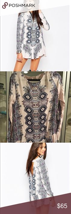 Free People Smooth Talker tunic Antique combo Free People Tops