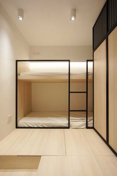 minimalist modern architecture, minimalist apartment design - My CMS Bunk Beds Built In, Modern Bunk Beds, Cool Bunk Beds, Interior Minimalista, Minimalist Apartment, Minimalist Home, Minimalist Bedroom, Modern Bedroom, Interior Architecture