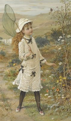 The Butterfly Catcher - William Stephen Coleman (English, 1829-1904)