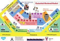 Plan du marché de Chatuchak