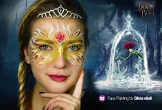 Beauty & the Beast Face Painting by Silvia Vitali http://www.facepainting.academy/