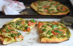 I've been testing pizza recipes for the cookbook and the blog this week, which has put my low carb dietin serious jeopardy. Suffice it to say, carbs beget carbs (beget more carbs) and craving pizza for breakfast is never a good sign!At any rate, for this particular pizza, I wanted bold pesto flavor. I didn't …
