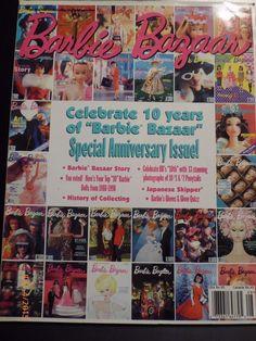 Barbie Bazaar Magazine August 1998 Celebrate 10th Anniversary Special Issue | eBay