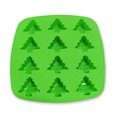 TKH Tree Ice Cube Tray Silicone for Whiskey, Chocolate Candy Molds, Soap Mold, Green Ice Cube Molds, Ice Cube Trays, Ice Cubes, Candy Making, Mold Making, Soap Molds, Silicone Molds, Tart Molds, Whiskey Chocolate