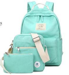 Korean casual women bookbags canvas printing backpack sets cute school bags backpacks for teenage girls shoulder bag