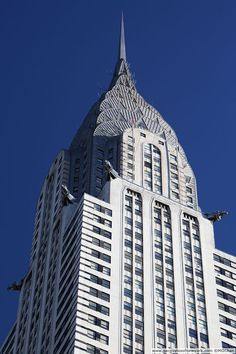 The Queen of Art Deco - the Chrysler Building, New York.