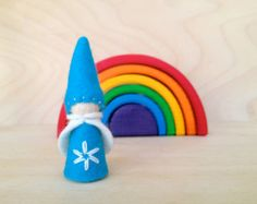 Wooden Peg Gnome - Waldorf and Montessori inspired - Gift under 10