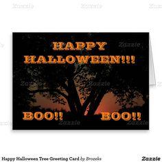 Happy Halloween Tree Greeting Card
