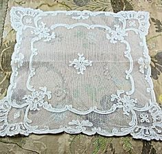 Antique French Centerpiece Doily Netted Lace. Click on the image for more information.