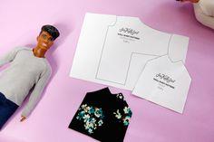 } - see kate sew Ken Barbie Doll shirt Pattern {FREE!} - see kate sew Diy Ken Doll Clothes, Sewing Barbie Clothes, Barbie Sewing Patterns, Doll Patterns Free, Doll Dress Patterns, Sewing Patterns For Kids, Clothing Patterns, Sewing Toys, Knitting Toys