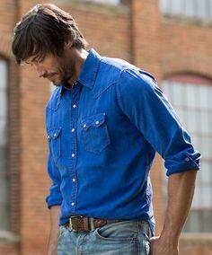 Men's Ryan Michael Saw Tooth Shirt in Bluebird at Maverick Western Wear