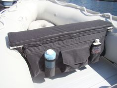 Under seat storage bags and seat cushions for inflatable boats benches