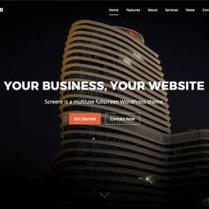Screenr WordPress theme is a bold & stylish, multipurpose theme. WordPress theme for parallax website Best Free Wordpress Themes, Premium Wordpress Themes, Parallax Website, Custom Website Design, Themes Themes, Web Design, Digital, Smart People, Outline