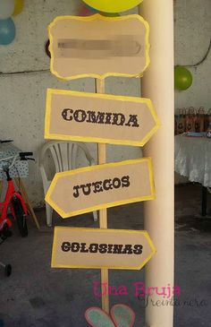 Ideas Para Tu Fiesta: Un cumple en el Lejano Oeste Rodeo Party, Cowboy Birthday Party, Cowgirl Party, Western Party Decorations, Western Parties, Photo Booth Party Props, Wild West Party, Cowboy Theme, Vbs Crafts