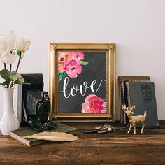 Aime citer signe, aime citer Print, amour Art pariétal, signe de l