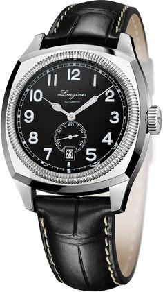 Longines Heritage 1935 #basel-14 #bezel-fixed #bracelet-strap-alligator #brand-longines #case-material-steel #case-width-42mm #date-yes #delivery-timescale-call-us #dial-colour-black #gender-mens #luxury #movement-automatic #new-product-yes #style-dress #subcat-heritage #supplier-model-no-l2-794-4-53-0 #warranty-longines-official-2-year-guarantee #water-resistant-30m