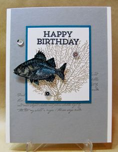 Savvy Handmade Cards: Casual Masculine Birthday Card for The Paper Players