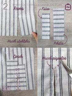 Cómo coser un puño con portañuela - Tesettür Tunik Modelleri 2020 - Tesettür Modelleri ve Modası 2019 ve 2020 Sewing Basics, Sewing Hacks, Sewing Tutorials, Dress Patterns, Sewing Patterns, Sewing Collars, Unicorn Dress, Sewing Lessons, Design Blog