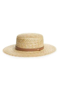 164ae782392 Sole Society Wide Brim Straw Boater Hat    Boater Hat