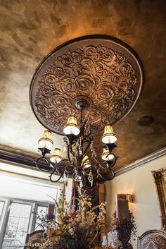 20 Photos of Absolutely Beautiful Tin Ceilings Interiordesignshome.com Tin ceiling set in center of room