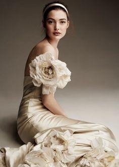 elegant flower gown
