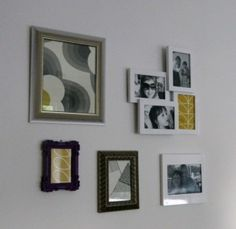 Review: Picture Frames Wall Gallery from Zalando - For bath or hall as an alt? BR? order samples & swtaches of wallpaper & fabric.