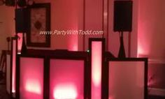 Uplighting for wedding, birthday, Mitzvah, party or any event transforms any room.