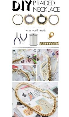 """Do It Yourself: Braided Necklace"" by polyvore-editorial ❤ liked on Polyvore"