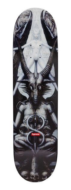 Giger Skateboard - Original artwork by H.R. Giger for Supreme