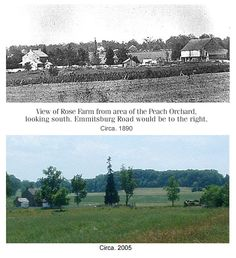 Contrast between Rose Farm in 1890 and 2005.